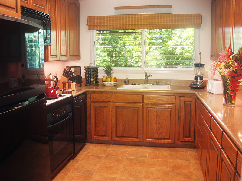 Our well equipped kitchen satisfies even the most discerning cook.