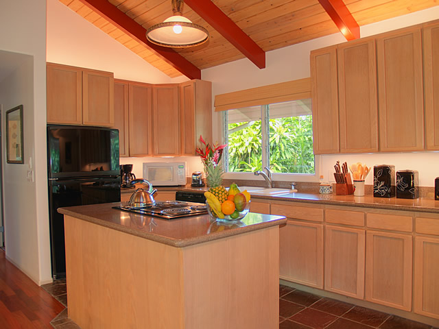 The fully appointed kitchen will satisfy even the most discerning cook.